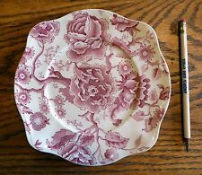 "Johnson Brothers English Chippendale Vintage China  Red SALAD PLATE  7 5/8"" EUC"