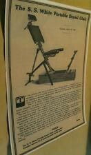 1895 Portable Dental Chair Ad $40 Cost Dentist Orthodontist Poster Repo