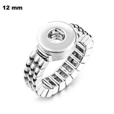 MINI SNAP STRETCH RING Interchangeable JEWELRY Petite 12mm Fits Ginger Snaps