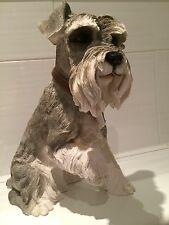 Extra Large Minature Standard Schnauzer Ornament Figurine Figure Dog Gift 37cm