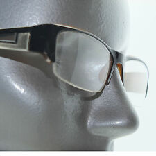 Bold Boss Chunky Brown Top Frame Invisible Lens Reading Glasses +1.25 Strength