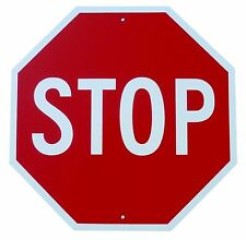 "STOP SIGN - NEW ALUMINUM SIGN - 12"" X 12"" road and street signs - mancave -art"