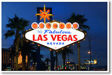Welcome to Fabulous Las Vegas Nevada - Travel POSTER