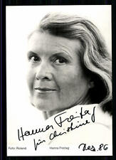 Hanna Freitag Autogrammkarte Original Signiert ## BC 14223