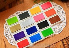 LOT 15 color Ink Pad for Craft Rubber Stamps Paper/Wood/Fabric Oil Based