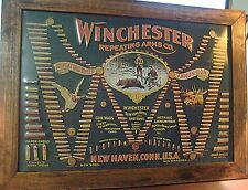 "LARGE 21""VINTAGE STYLE OFFICIAL WINCHESTER REPEATING ARMS WOOD & METAL SIGN GUNS"