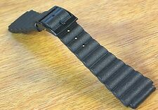 Buler 20mm Diver Strap Swiss Black Rubber 1970s New Old Vintage Watch Band 13/16