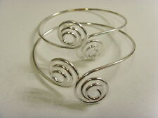 2 vintage upper arm spiral bracelets lot belly dance retro steam punk larp 48799