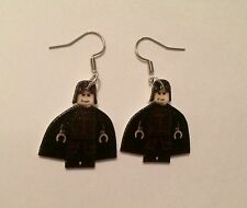 Harry Potter Severus Snape Lego Inspired Earrings HANDMADE PLASTIC CHARMS