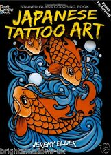 Japanese Tattoo Designs Stained Glass Adult Colouring Book Creative Body Art