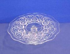 """EAPG Moon and + Stars Pedestal Cake Stand Early American Pattern Glass 11"""" Old!"""