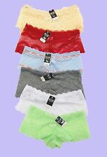 NEW LOT Sexy Lace Boy Shorts Lingerie Cheeky Sheer Panties Underwear S M L XL