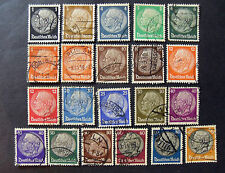"GERMANIA, GERMANY1932-33 REICH ""Effige Maresciallo  Hindenburg"" 21V.Cpl SET USED"