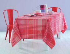 Garnier Thiebaut Damask Cotton French TABLECLOTH Pink/Red Mille Zoom Framboise