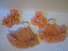 Lotof 2 Peaches n Cream Barbie Doll Gowns with Boas - Very Pretty!!