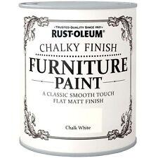 Rust-Oleum Chalk Chalky Furniture Paint Chic Shabby 125ml White Matt