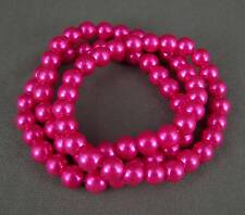 Pink faux pearl set 3 stretch bracelet plastic bead beads stacking stack