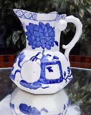 Antiguo Inglés Cerámica: de cerámica Davenport Hydra Jarra-Fruit & Floral
