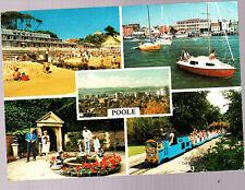 Used  Postcard, Dorset, Poole Multiview, pm April 80