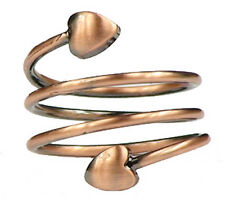 Copper Plated Spiral - Magnetic Therapy Ring Twist Coil Magnet Fat Ring