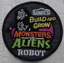 "Lowe's Build and Grow Monsters Vs. Aliens ""Robot"" Iron-on Patch"