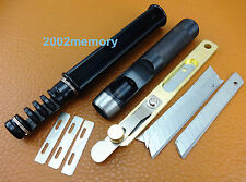 3pcs Leather Craft Lacing Lace Maker Design Punch Strip Cutter Tool Set Kit NEW