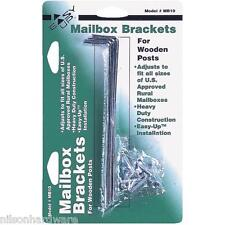 6 Pk Steel #1 & # 1 1/2 & #2 Rural Mailbox Bracket Holder For Wood Post MB10