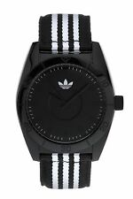Adidas Mens ADH2659 Santiago Black Dial Two Tone Cloth Strap Quartz Watch