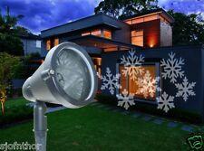 LED Schneeflocken weiß Strahler Projektor Beleuchtung Lichteffekt Garten RC