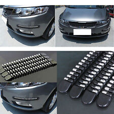 Front + Rear Bullet Car Auto Bumper Protector Corner Guard Scratch Sticker Black