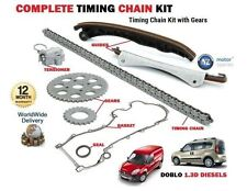 FOR FIAT DOBLO 1.3D JTD 16V MULTIJET 2004-  TIMING CHAIN KIT + GEARS + FLANGE