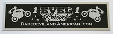 EVEL KNIEVEL DAREDEVIL NAMEPLATE FOR SIGNED PHOTO 8X10 16X20 OR DISPLAY CASE