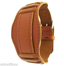 20mm ORANGE WATCH BAND USSR OLD MILITARY STYLE Vintage Soviet Russian leather