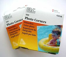 1000 PRO TRANSPARENT CLEAR PHOTO CORNERS ACID FREE SELF ADHESIVE HIGH QUALITY