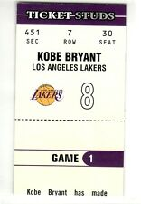 KOBE BRYANT LOS ANGELES LAKERS 2003-2004 AUTHENTIX TICKET STUDS #6 OF 15