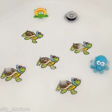 Bathtub Stickers TURTLE - Kids Babies Shower Decals Treads Non-Slip Applique