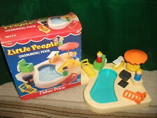 VINTAGE FISHER-PRICE LITTLE PEOPLE PLAY SWIMMING POOL PLAYSET #2526 WITH BOX