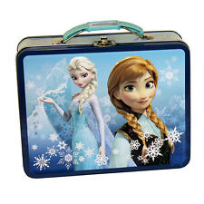 Disney Frozen Metal Tin Lunch Box Elsa and Anna NEW Toys Carrier Tote Elsa