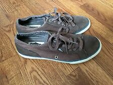 Mens SIMPLE Brown Canvas Suede Casual Shoes Sneakers Vegan US Sz 11 EU 44.5