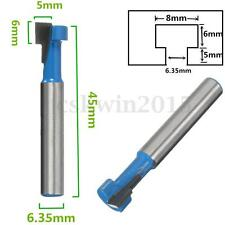 """1/4"""" Shank T-Slot Cutter Router Bit Milling Woodworking Architectural Molding"""