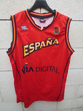 Maillot basket ESPAGNE ESPANA camiseta John Smith FEB jersey shirt rouge XL