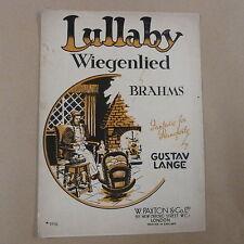 piano BRAHMS Lullaby - Wiegenlied, Gustav Lange