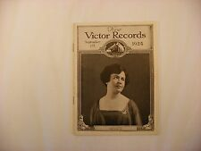Original Victor Phonograph Records Catalog - September 1st, 1924