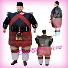 Adult Chub Scottish Bagpipe Inflatable Blow Up Body Halloween Costume Jumpsuit