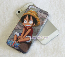 Cute Matte One Piece Luffy sea map soft rubber thin case cover skin iphone 5/5s