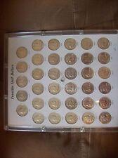 1948-1963 Franklin Half Dollars, Complete Set - 35 Coins