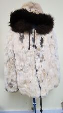 VTG ESKIMO FUR HOODED PARKA COAT SPOTTED RABBIT & FOX LINED WITH POCKETS