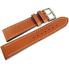 20mm Di-Modell Jumbo Mens Tan Waterproof Leather German Made Watch Band Strap