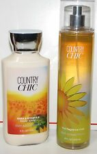 2 Bath Body Works Country Chic Fragrance Body Lotion & Mist Spray - SHIPS FREE