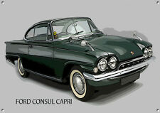 CLASSIC FORD CONSUL CAPRI METAL SIGN